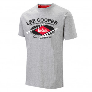 LEE COOPER GRAPHIC T-SHIRT GREY LCTS014 - Size XL Grey