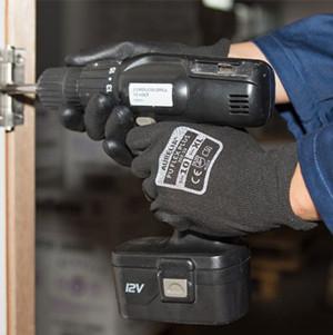 Aurelia PU Flex Plus Palm Coated Gloves - Size XL Black