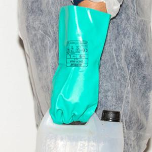 Aurelia Chem Max Flocklined Chemical Gauntlet Gloves - Size XL Green