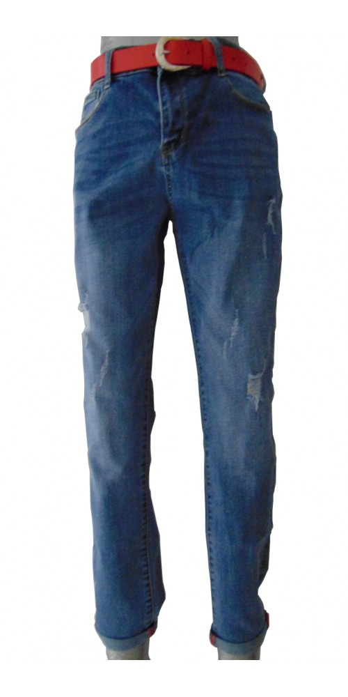 Women's  Jeans with Red belt - XL