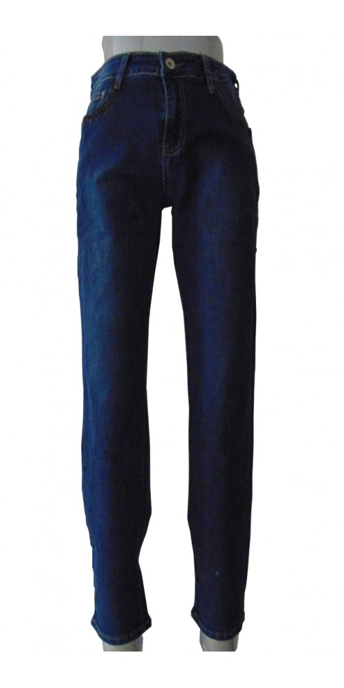 Women's  Jeans with Pattern - XL