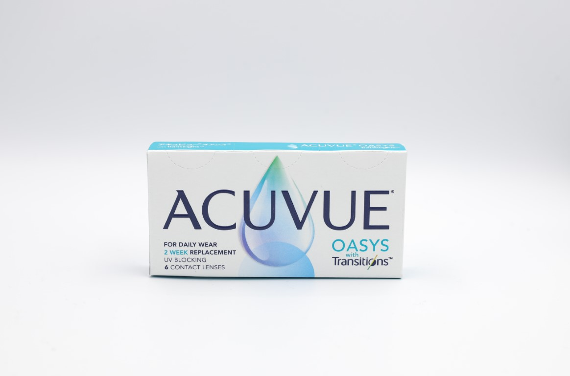 -7.50 Acuvue Oasys Transitions 6 lenses/box