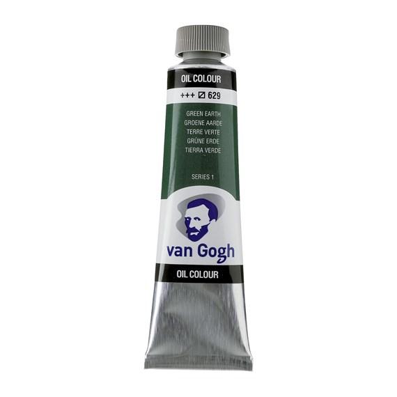 Van Gogh Oil Colour 40 ml Permanent Green Medium 614