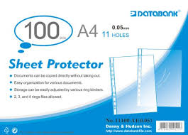 Sheet Protector with holes (100 pcs, 0.05 mm, A4)