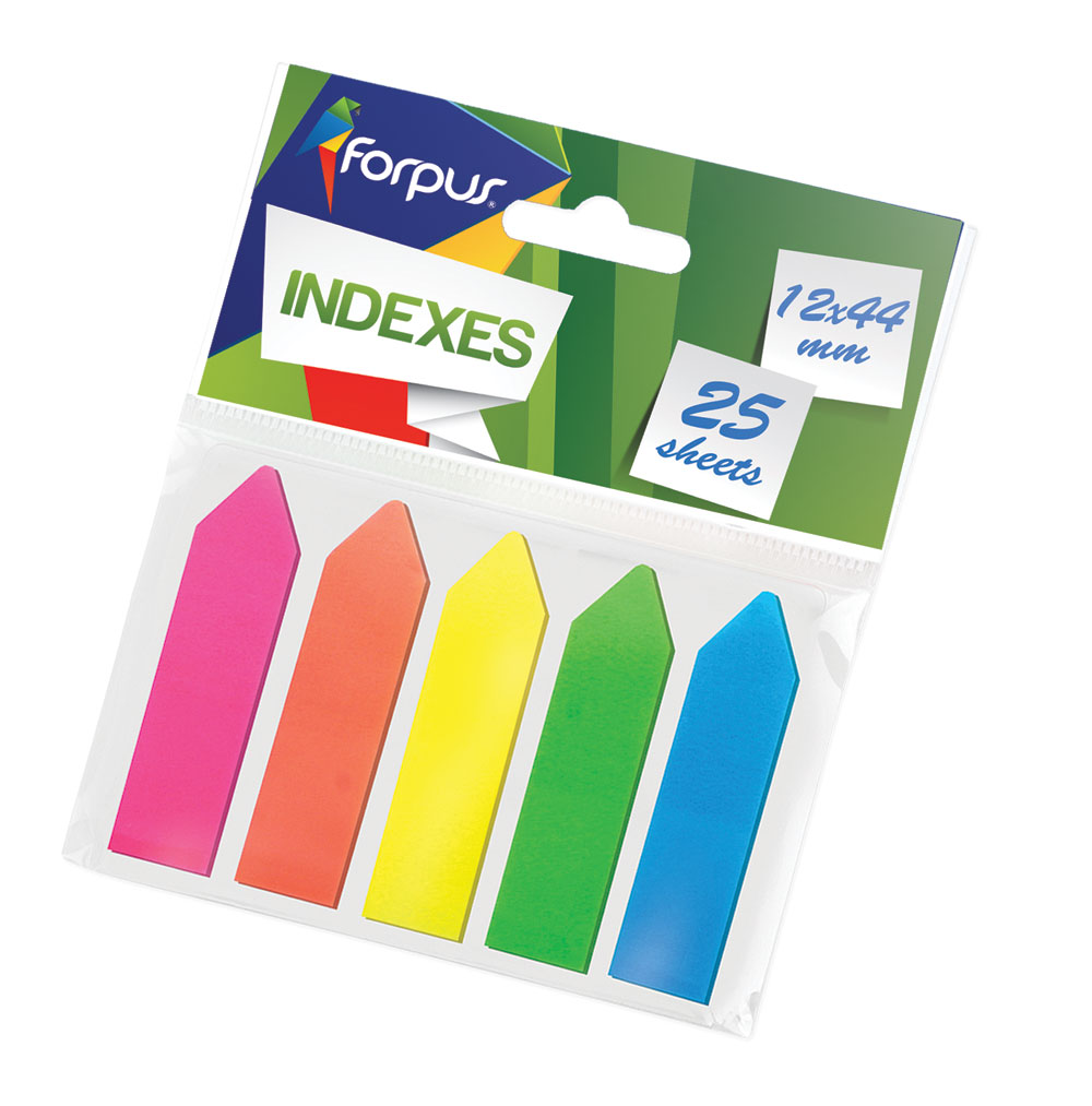 Office Sticky Notes Transparent 5x25 pieces (12x44 mm)