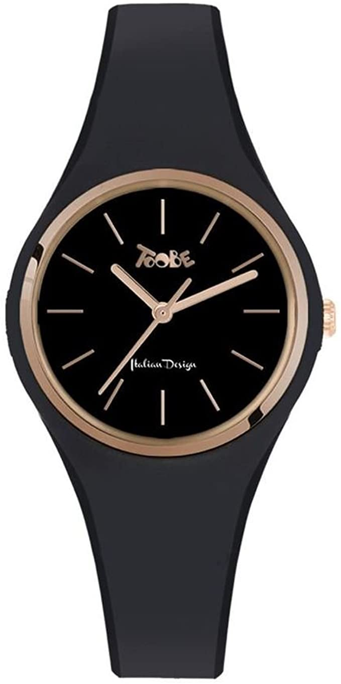 TOOBE LADY BLACK AND ROSEGOLD DIAL