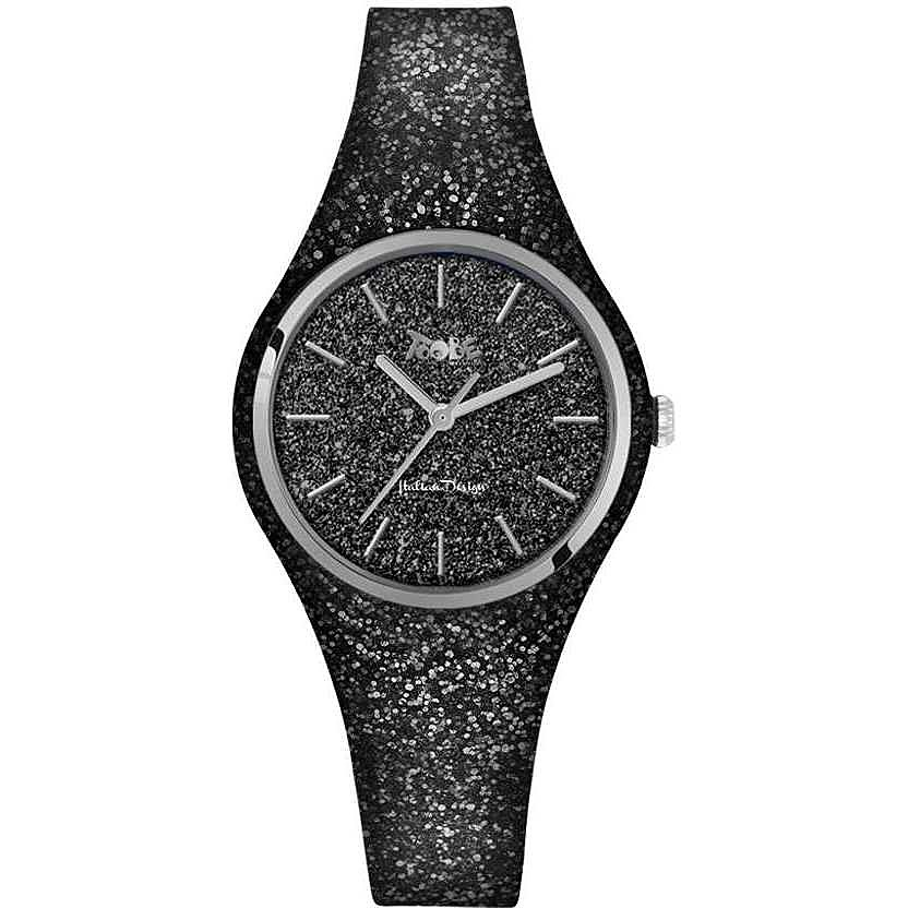 TOOBELADY  BLACK WITH GLITTERY DIAL AND STRAP