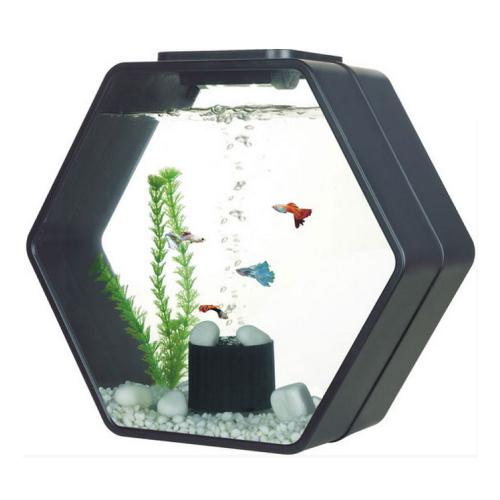 Deco Hexo Complete Aquarium - Black - 15L