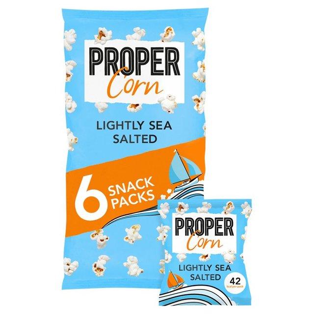 PROPER CORN LIGHTLY SEA SALTED MULTIPACK 8X60GR
