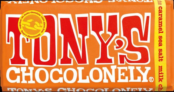 Tony's Chocolonely Milk Chocolate Caramel & Sea Salt 180gr