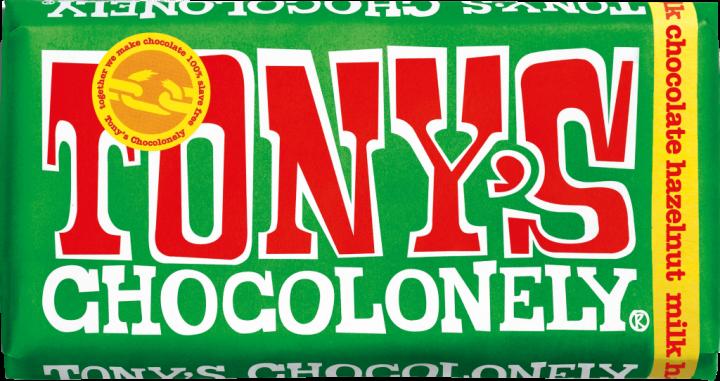 Tony's Chocolonely Milk chocolate hazelnut 180gr