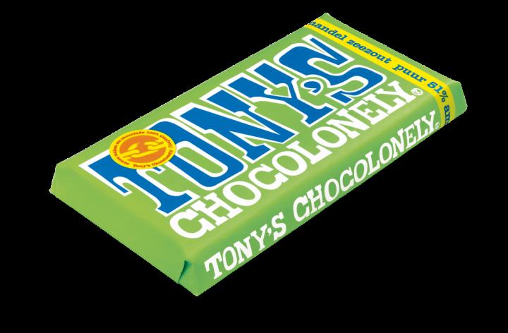 Tony's Chocolonely Dark chocolate almond sea salt 180gr