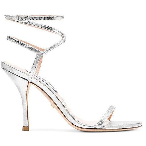 THE MERINDA SANDAL - Stuart Weitzman, Silver  -  Size 38.5