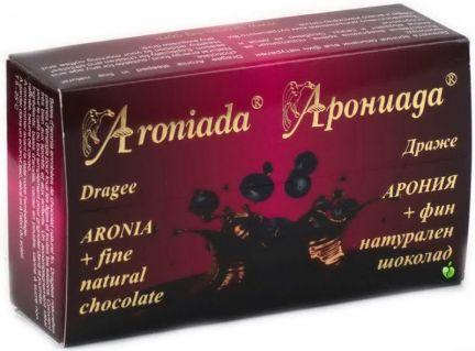 Aroia beries in dark chokolate,box 100 g.