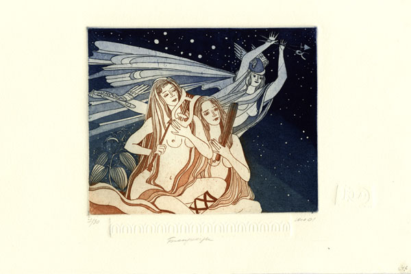 Woman Gemini - 17x21cm