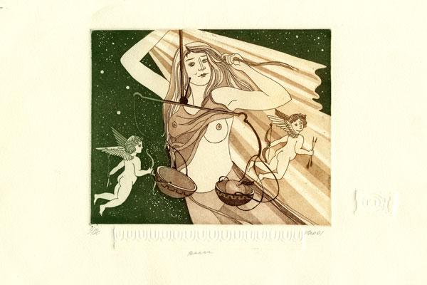 Woman Libra - 17x21cm