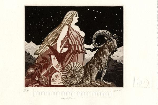 Woman Capricorn - 17x21cm