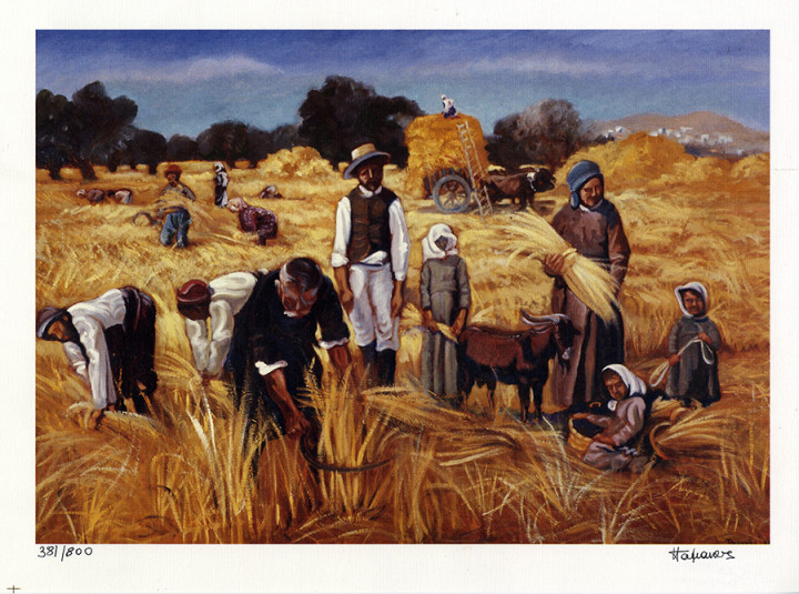 At the Harvest - 25x34cm