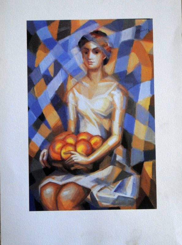 Woman with Fruit - 50x35cm