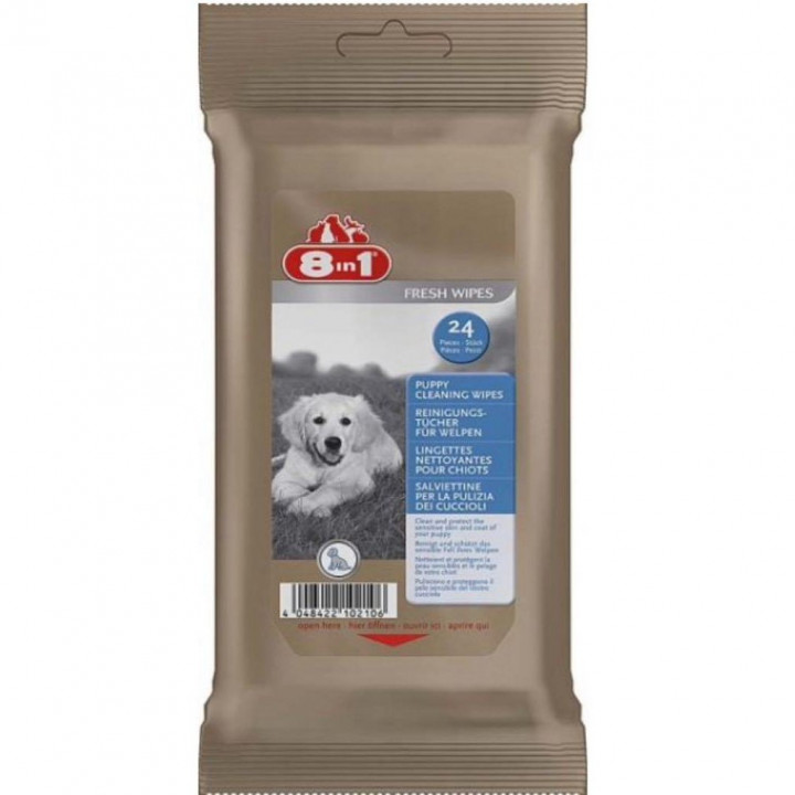 CLEANING WIPES FOR DOGS 8in1 PUPPY 24pcs
