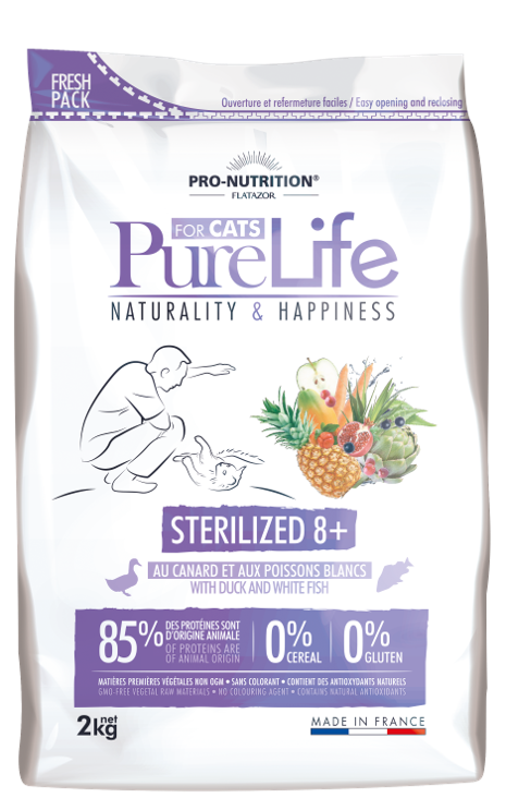 PURELIFE STERILIZED+8 CAT 2kg