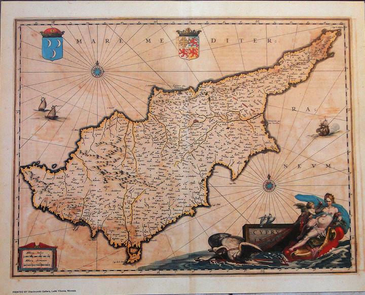 Cyprus Insula  - 43x54cm