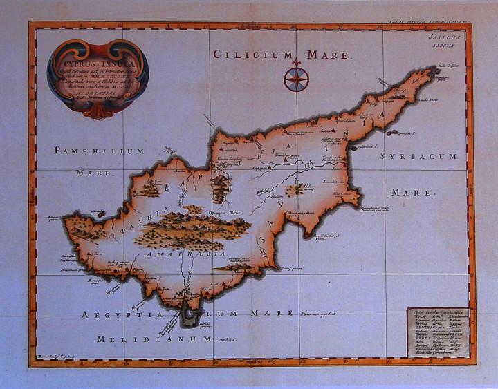 Cyprus Insula  - 33x42.5cm