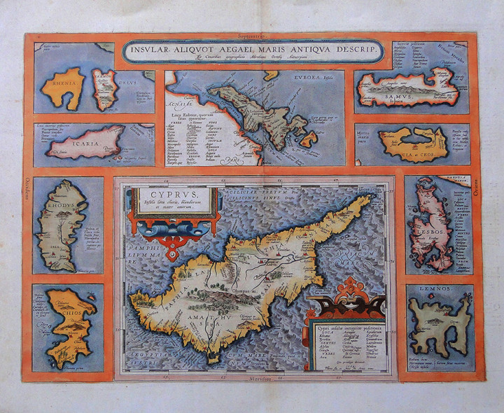 Cyprus Ins Aegai Maris - 44x53.5cm