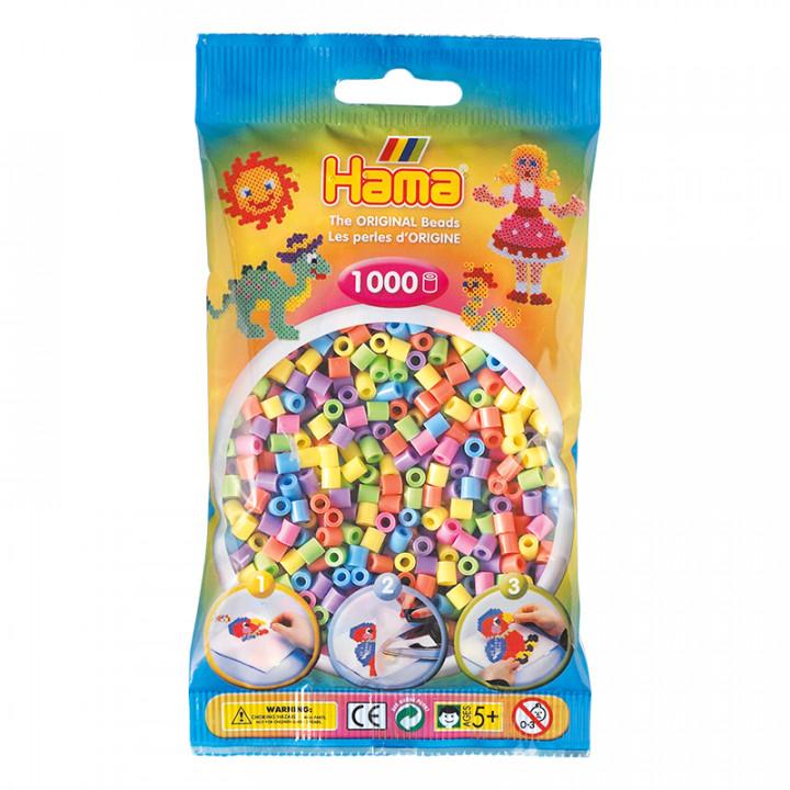 Hama bag of 1000 Pastel Mix Beads