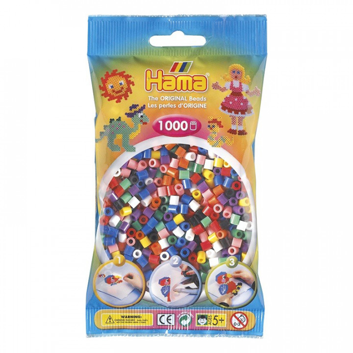 Hama bag of 1000 Solid Mix Beads