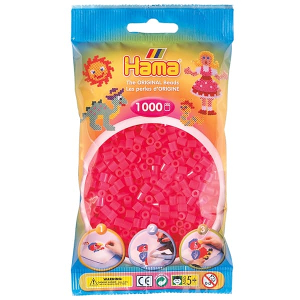 Hama bag of 1000 - Neon Pink