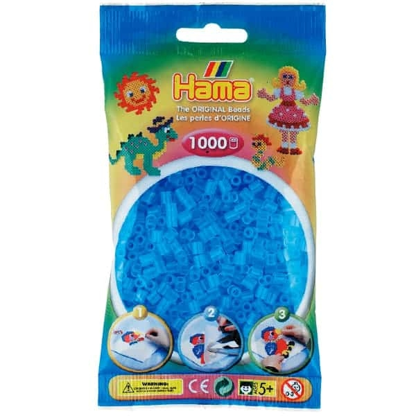 Hama bag of 1000 - Translucent Aqua