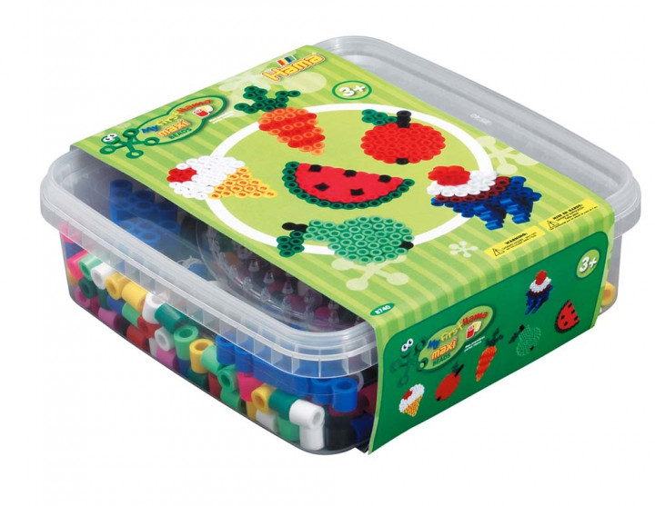 Hama Beads and pegboard in box 600pcs - Fruits