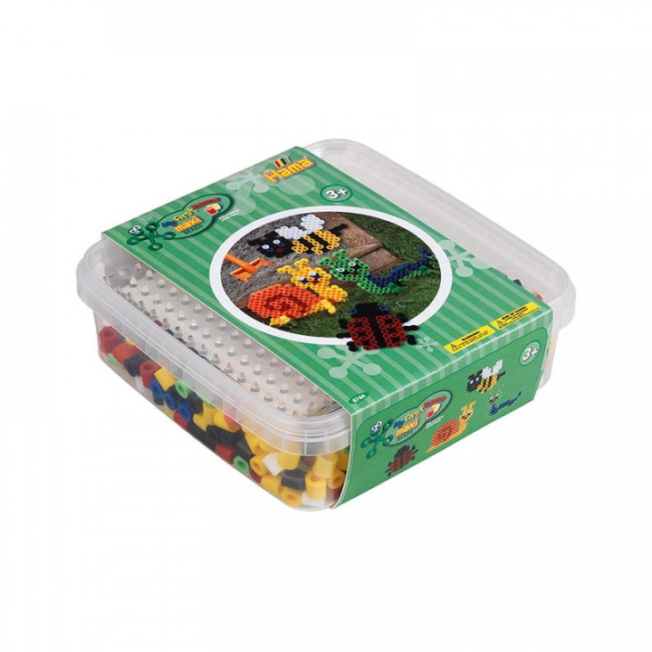 Hama Beads and pegboard in box 600pcs - Garden Animals