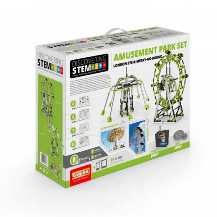 Engino STEM Amusement Park Set: London Eye and Ferris Wheel