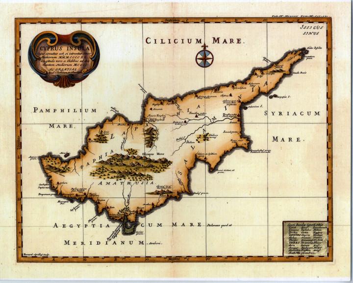 Cyprus Insula  - 24.7x30.7cm