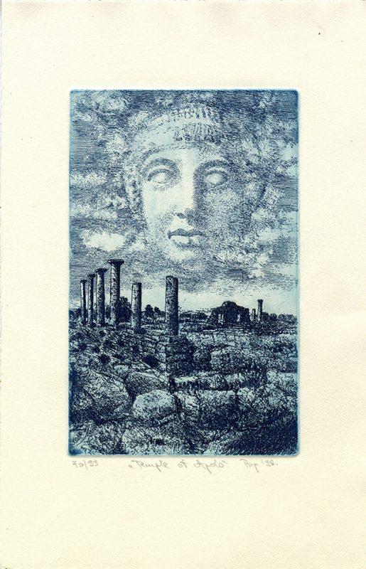 Temple of Apollo - 26x16cm