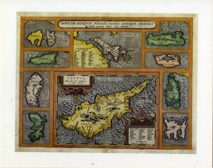 Cyprus Ins Aegaei Maris - 24.5x30.6cm