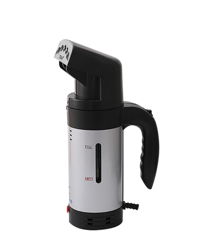Handheld Steamer with Handle - Aluminium Coil - Silver