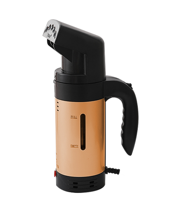 Handheld Steamer with Handle - Copper Coil - Gold