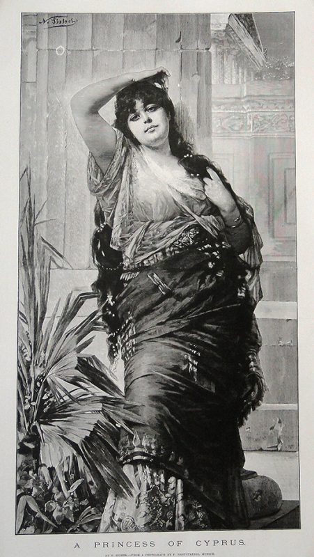 A Princess of Cyprus - 49.8x28.7cm