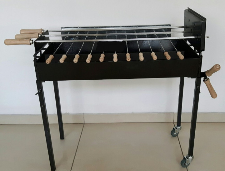 BBQ PARALER - 70 CMS LONG (COOKING AREA) WITH TWO WHEELS