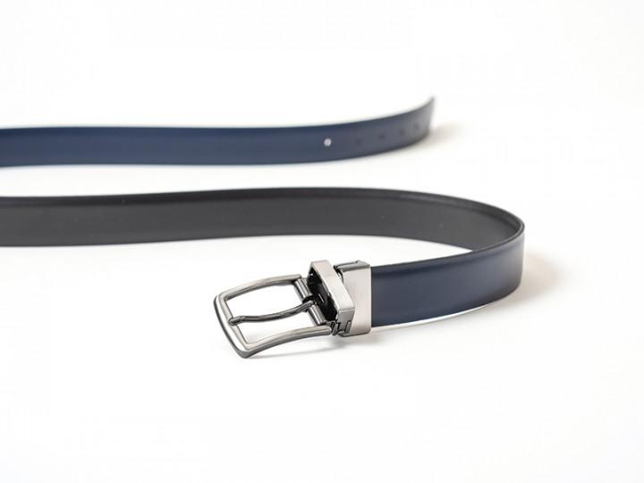 TWO SIDED BELT - Blue/Black