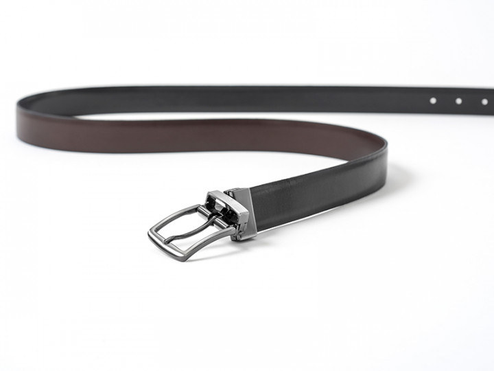 TWO SIDED BELT - Brown/Black