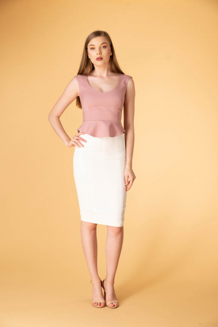 Pencil Skirt - White - Large