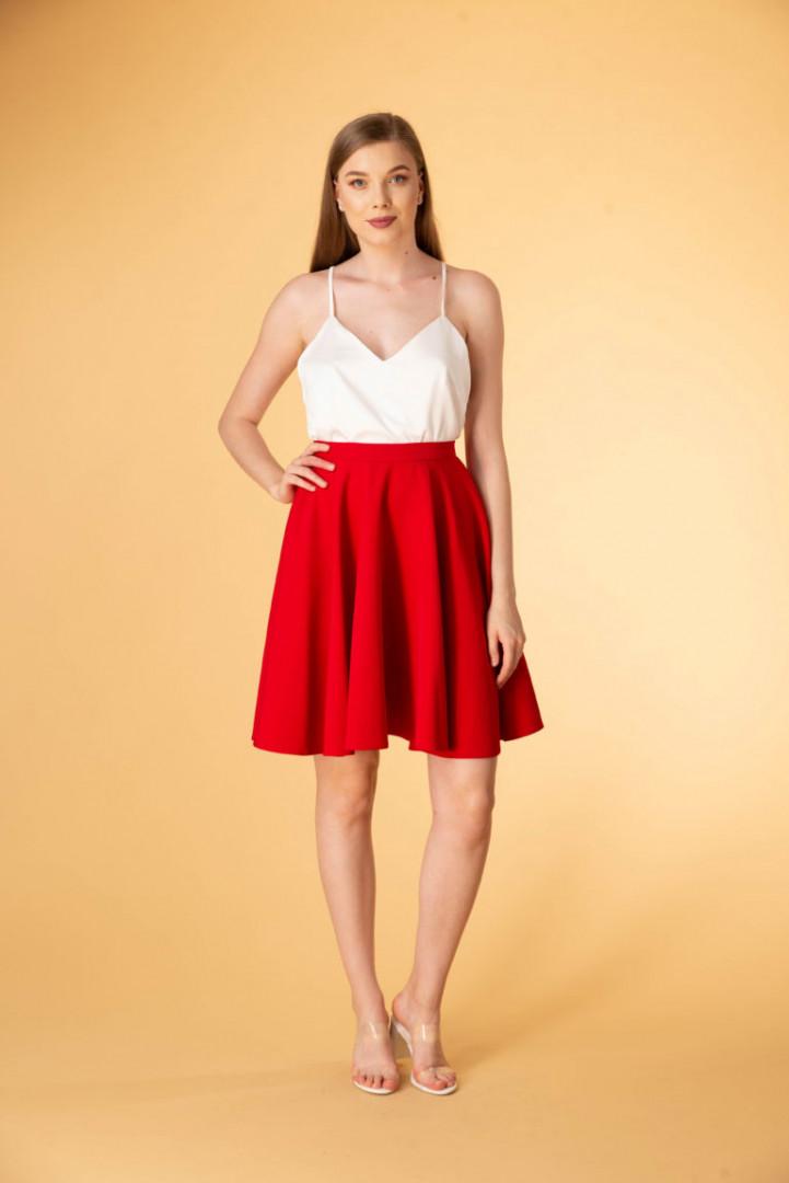 Mini Skirt - Red - Large