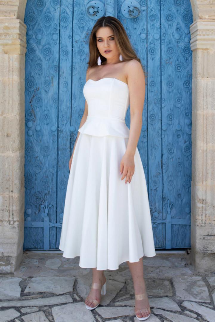 Midi Skirt - White - Large
