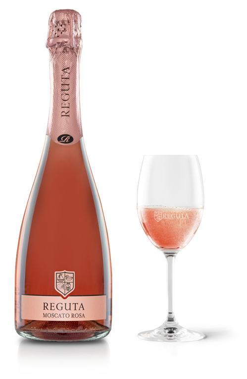 REGUTA, MOSCATO ROSA SPUMANTE DOLCE - SWEET ROSE SPARKL
