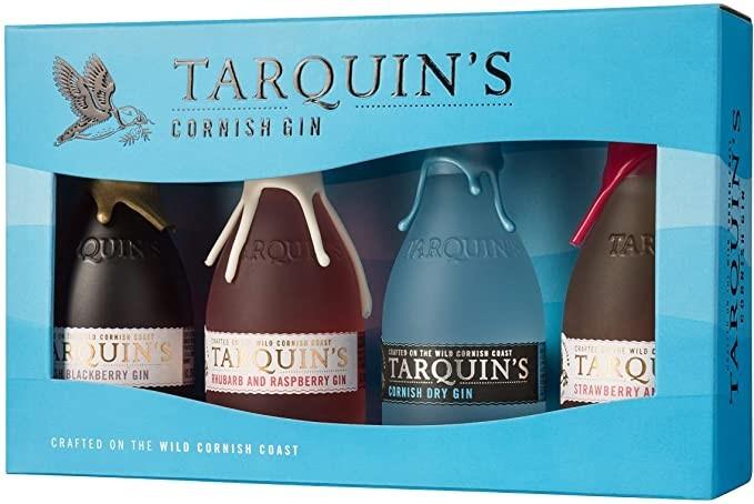 TARQUIN'S MIXED MINIATURE GIFT BOX (12 X 5cl) (dry, rhubarb&raspberry, blackberry, strawberry&lime)