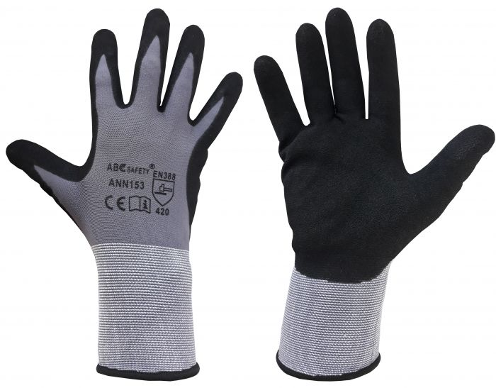 BLACK NITRILE GLOVES No.9